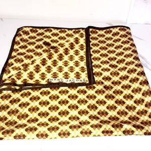 Marc Jacobs brown yellow silk scarf